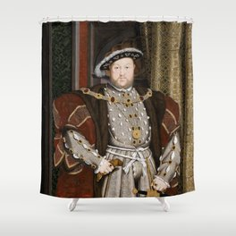 Portrait of Henry VIII - After Hans Holbien the Younger Shower Curtain