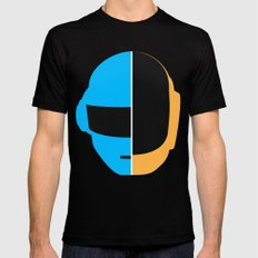 Daft Punk Mens Fitted Tee LARGE Black
