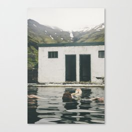 one of the oldest swimming pools in Iceland part 2 Canvas Print
