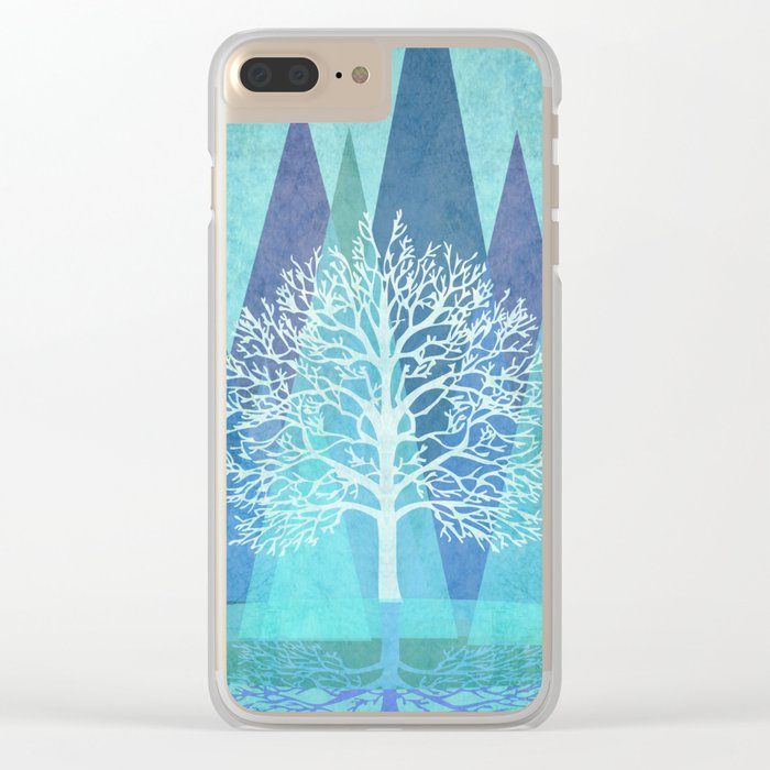 Winter Tree #Society6 #decor #buyart Clear iPhone Case