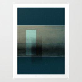 Lighthouse in blues Art Print