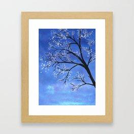 Tree in bloom Framed Art Print