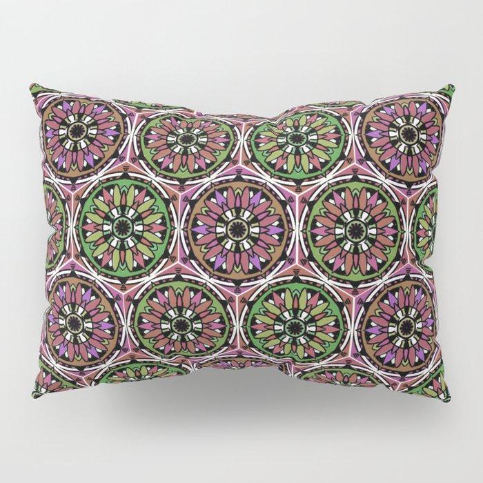 Boho pink mandalas Pillow Sham