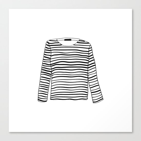 sailor tee Canvas Print