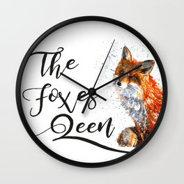 The Foxes Queen Wall Clock