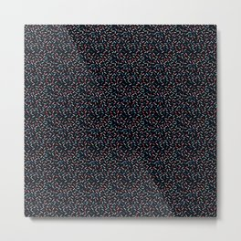 Memphis Style Dark Confetti Metal Print