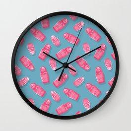 Matryoshka Blue Wall Clock