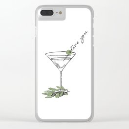 Olive Clear iPhone Case