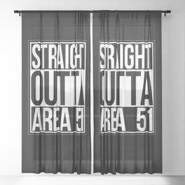 Straight Outta Area 51 Sheer Curtain