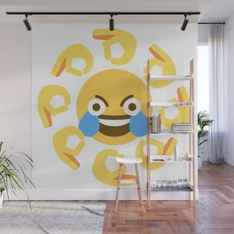 Open Eye Crying Laughing Emoji Wall Mural