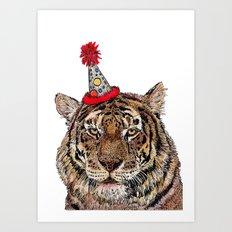 Tiger Party Art Print