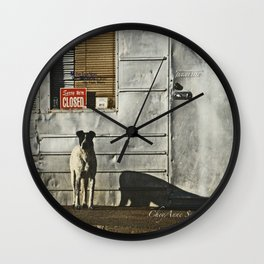 Dog Closed for Biz Wall Clock