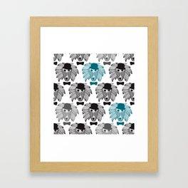 Hipster baboon monkey man Framed Art Print