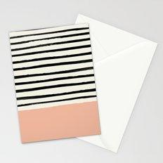 Peach x Stripes Stationery Cards