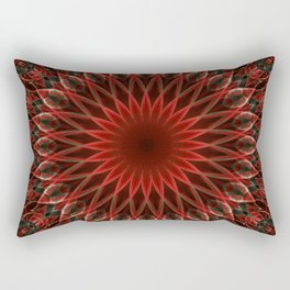 Leaves ornamented mandala Rectangular Pillow