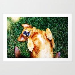 Playful Pup Art Print