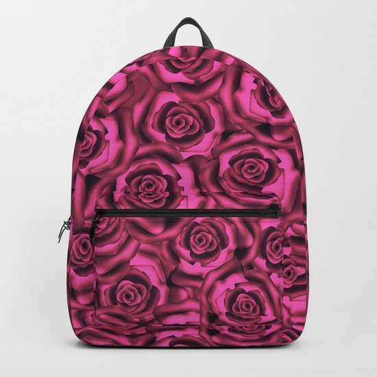 Pink roses. Pattern. Backpack