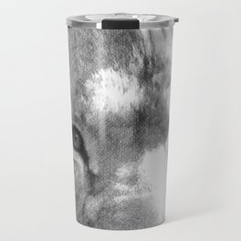 Lion - Black & White Travel Mug