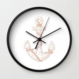 Anchor (Nautical Collection) - Bronze Wall Clock
