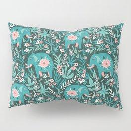 Blue elephants Pillow Sham