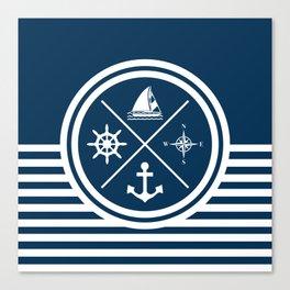 Sailing symbols Canvas Print