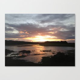Sunset over swampland Canvas Print