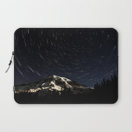 Mount Rainier Star Trails  Laptop Sleeve