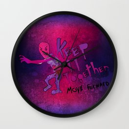Keep It Together (Zombie Motivational) Wall Clock