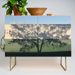 Shadow Tree on an industrial building Credenza