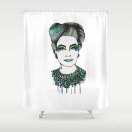 Emerald Mommy Dearest  Shower Curtain