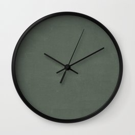 Plain Dark Sage Green with Soft Relaxing Texture Wall Clock