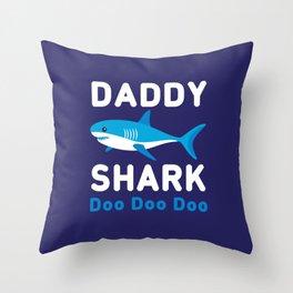 Daddy Shark Throw Pillow