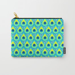Green Peacock Carry-All Pouch