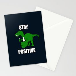 Stay Positive Iguanodon Stationery Cards