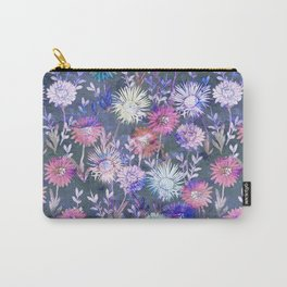 Gillian Floral Gray Carry-All Pouch