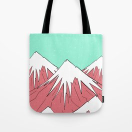 The mountains and the sky Tote Bag