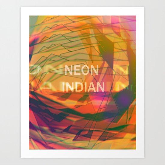 neon indian Art Print