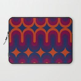 70s Geometric Design - Sunset Swoops Laptop Sleeve