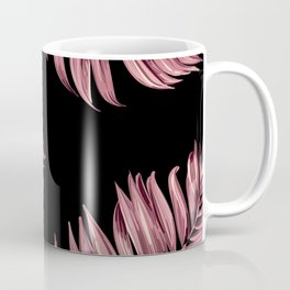 Rose Pink Palm Leaves Coffee Mug