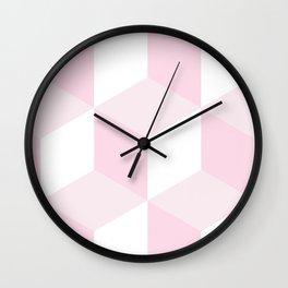 Blush Pink Modern Pattern Wall Clock