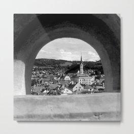 Český Krumlov, Czech Republic, a fairytale town | Film Photo Print Metal Print