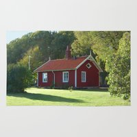 swedish Area & Throw Rugs featuring Swedish Cottage  by Sarah Osterman