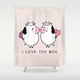 I Love You Moo Shower Curtain