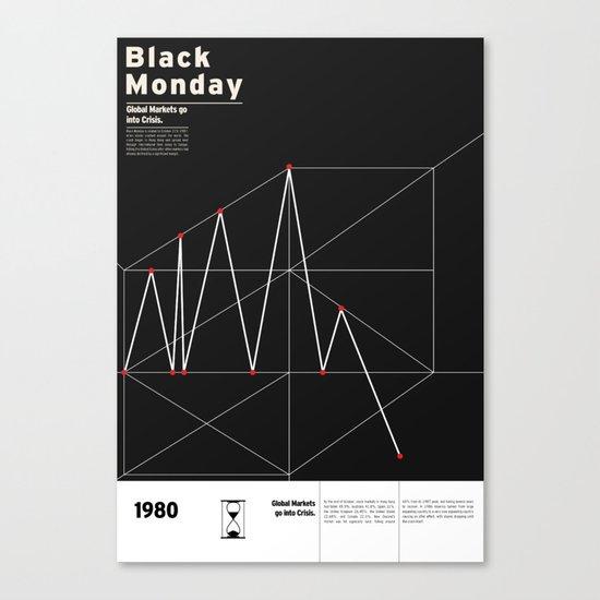 Black Monday Canvas Print