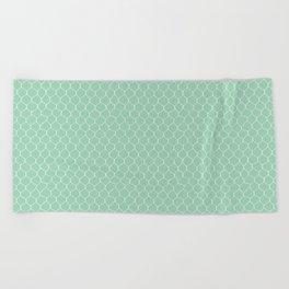 Chicken Wire Mint Beach Towel