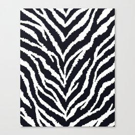 Zebra fur texture Canvas Print