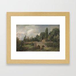 John Constable 1776–1837   Gillingham Bridge, Dorset Framed Art Print