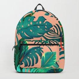 Summer Tropical Leaves Backpack