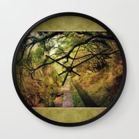 wonderland Wall Clocks featuring wonderLand by Dirk Wuestenhagen Imagery