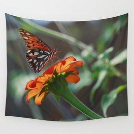 Gulf Fritillary Butterfly Wall Tapestry